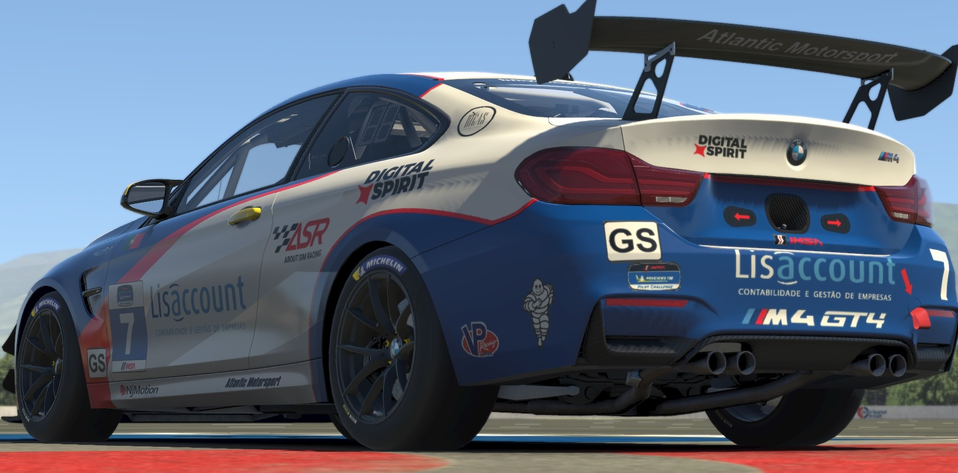Atlantic Motorsport presents the new BMW M4 GT4 for iRacing