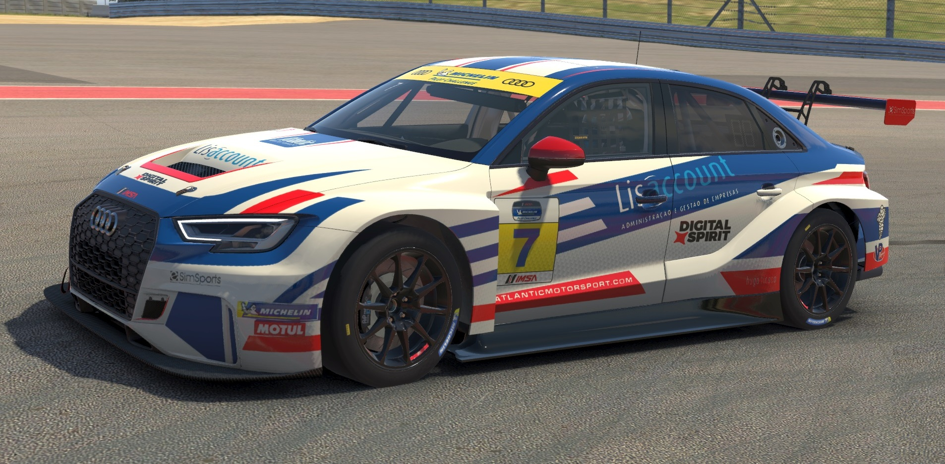 Atlantic Motorsport presents the new Audi RS3 LMS for iRacing