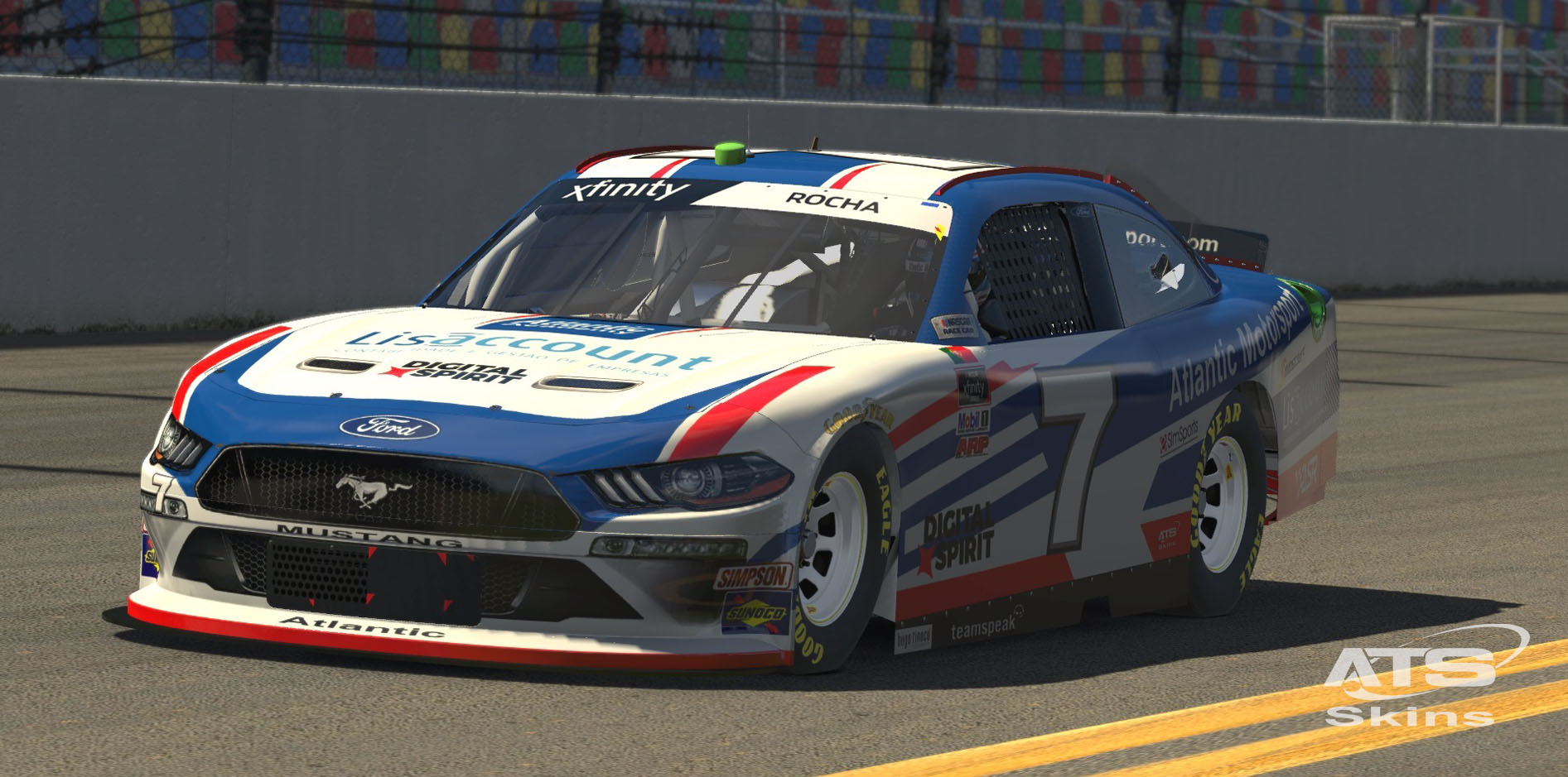 Atlantic Motorsport presents the new NASCAR XFINITY Ford Mustang for iRacing