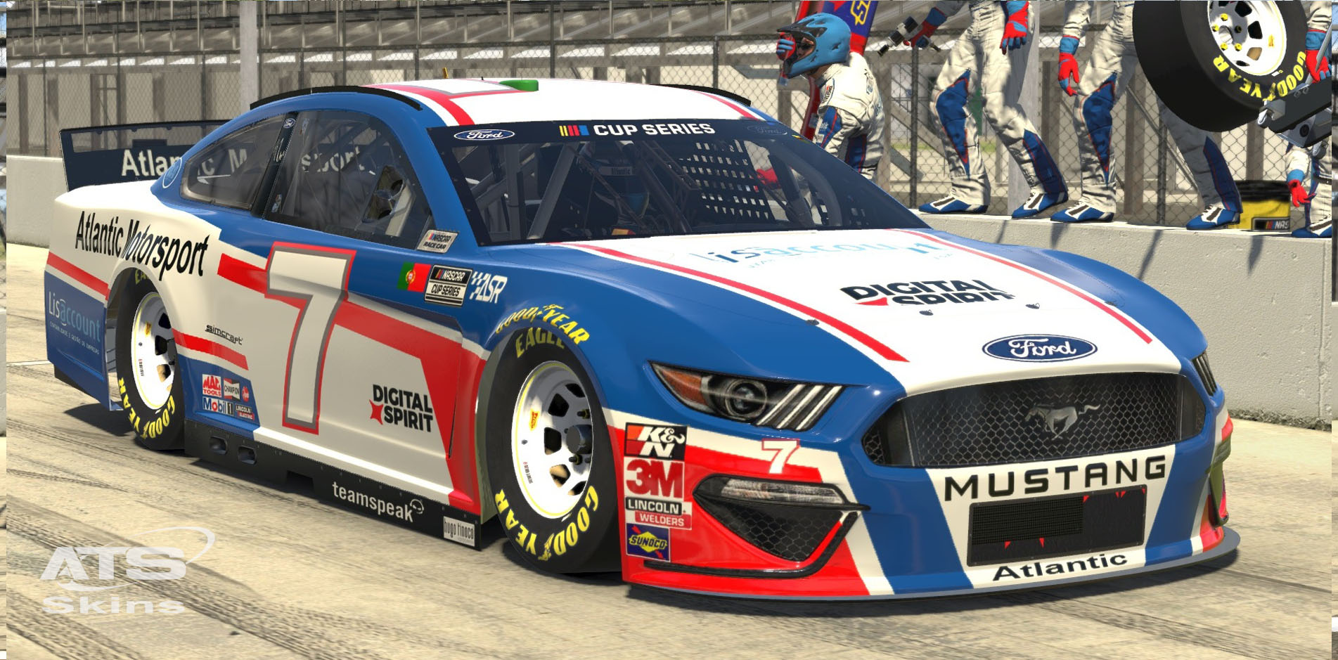 Atlantic Motorsport presents the new NASCAR Ford Mustang Class A Gen 6 for iRacing