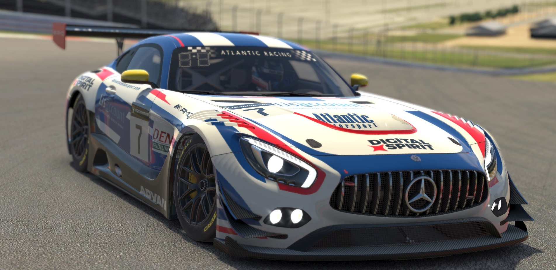 Atlantic Motorsport presents the new Mercedes AMG GT3 for iRacing