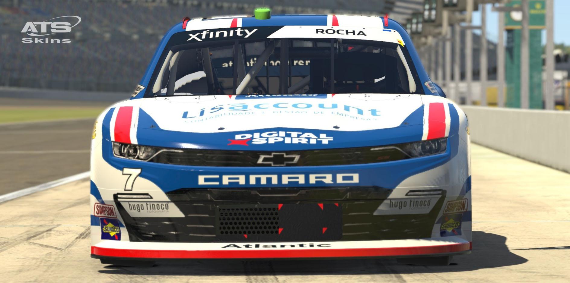 Atlantic Motorsport presents the new NASCAR XFINITY Chevrolet Camaro for iRacing