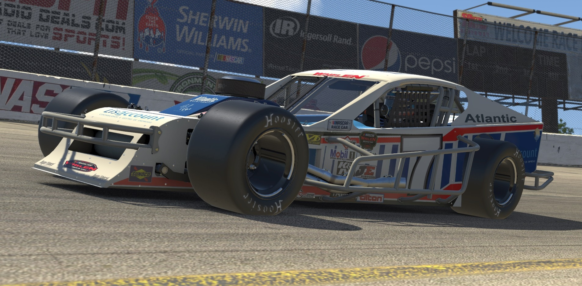 Atlantic Motorsport presents the new NASCAR SK Modified Whelen for iRacing