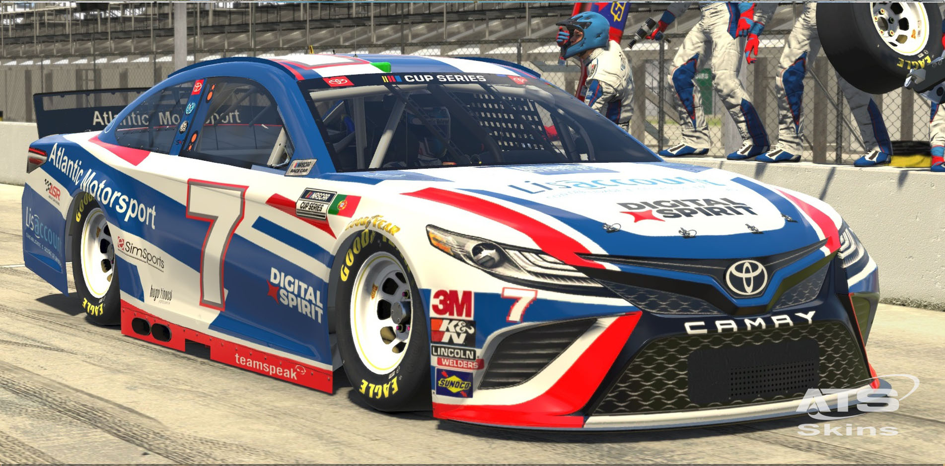 Atlantic Motorsport presents the new NASCAR Toyota Camry Class A Gen 6 for iRacing
