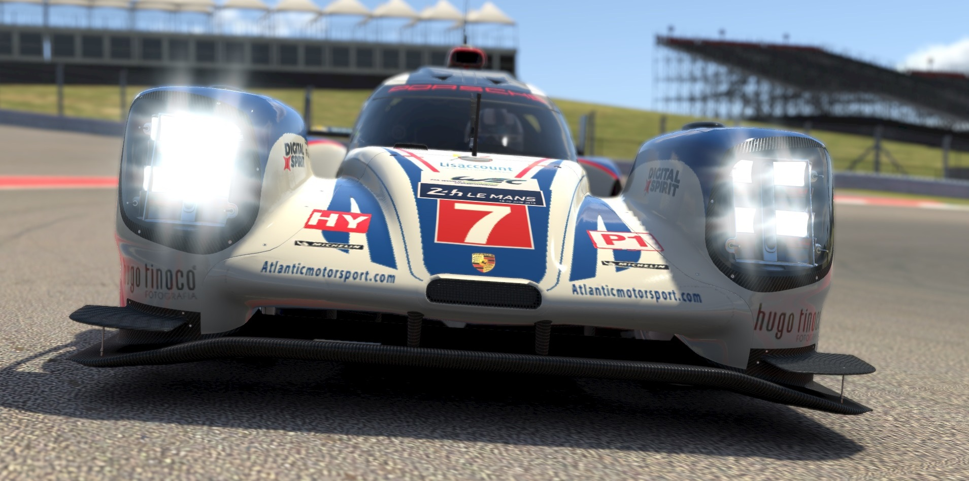 Atlantic Motorsport presents the new Porsche 919 LMP1 Hybrid  for iRacing