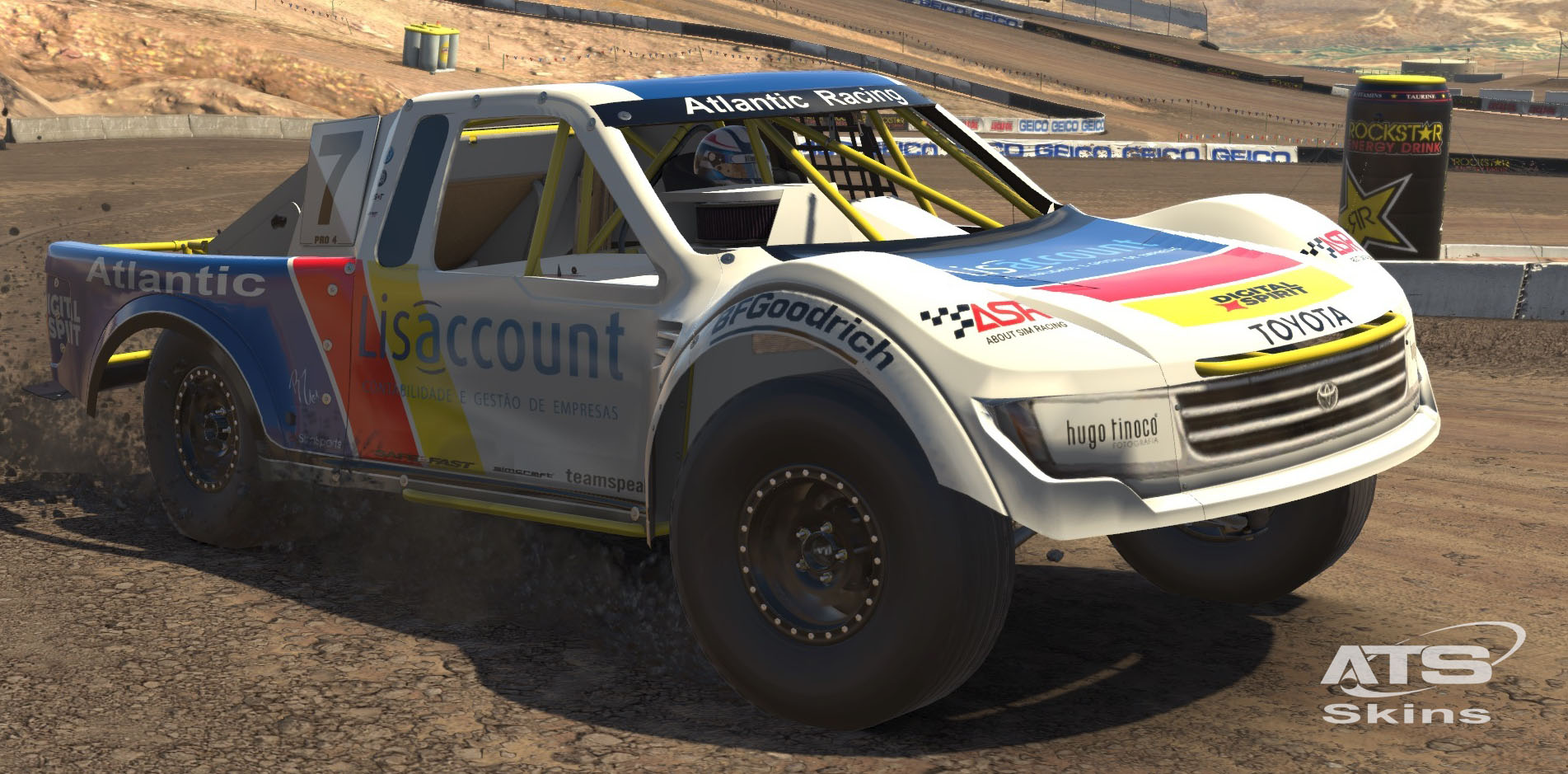 Atlantic Motorsport presents the new Lucas Oil Off Road Pro4 Stadium Truck for iRacing