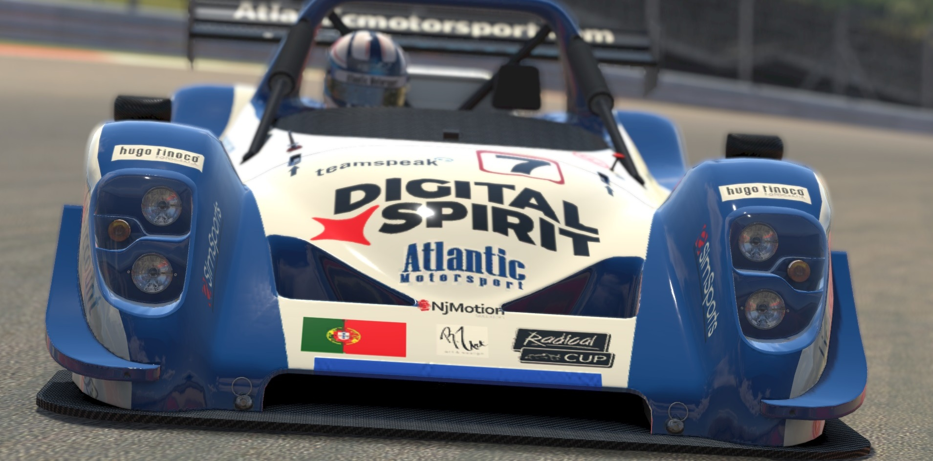 Atlantic Motorsport presents the new Radical SR8 for iRacing