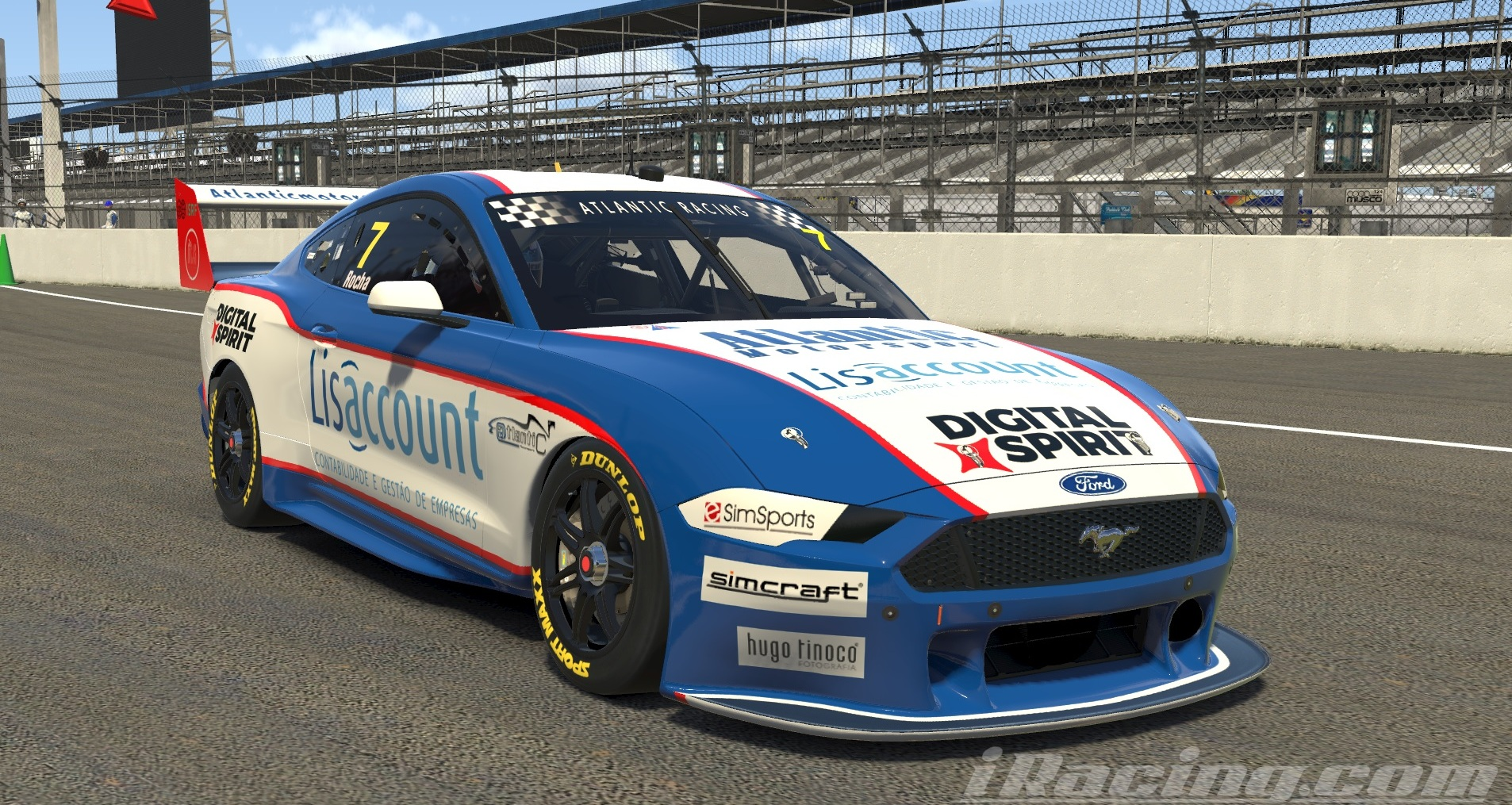 Atlantic Motorsport presents the new Supercar Ford Mustang GT for iRacing